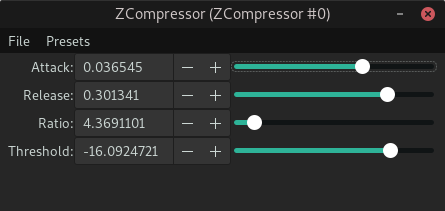 ZCompressor screenshot